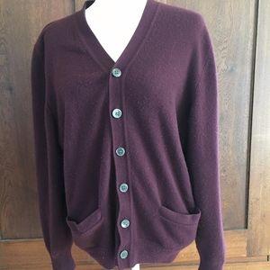 Medium 38/40 Cashmere Lands End Cadigan Sweater